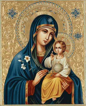 Qu'elle est belle NOTRE-DAME ! (icônes orthodoxes de la Vierge Marie et l'Enfant Jésus) A11