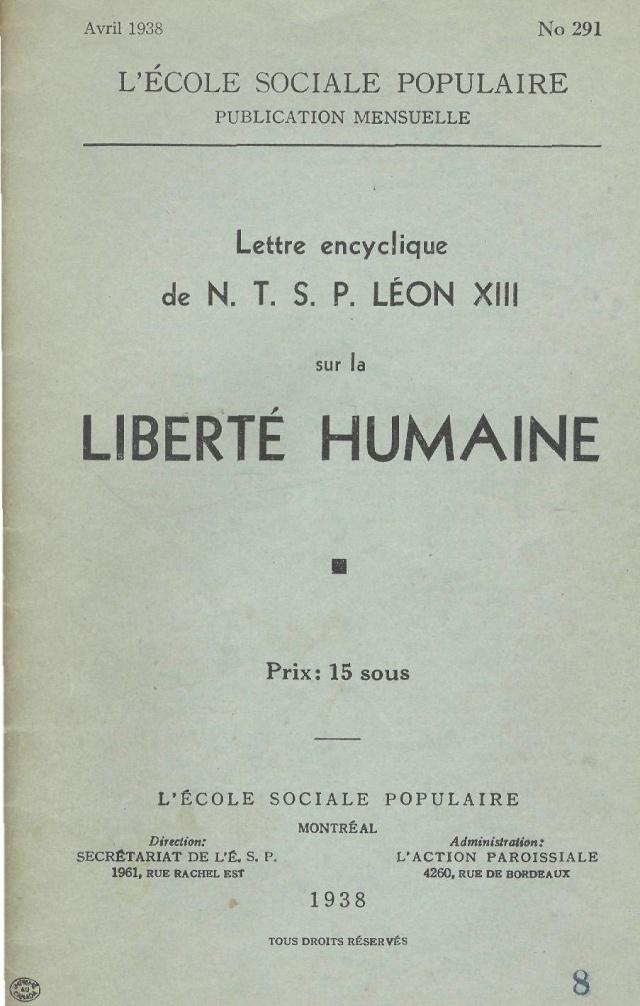 La liberté humaine. (COMPLET, avec table) Laon_x13