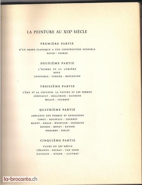Le XIXème de Goya à Gauguin -Maurice Raynal - 1951 - SKIRA 560310
