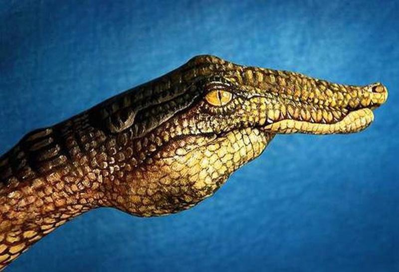 Femmes peintes Crocod10