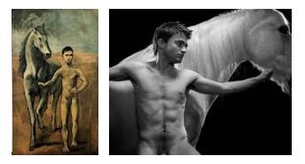 Juxtapositions oulipiennes d'images - Poésie des contrastes Horsem10
