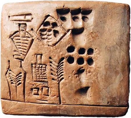Esthétique des tablettes d'argile Numera10