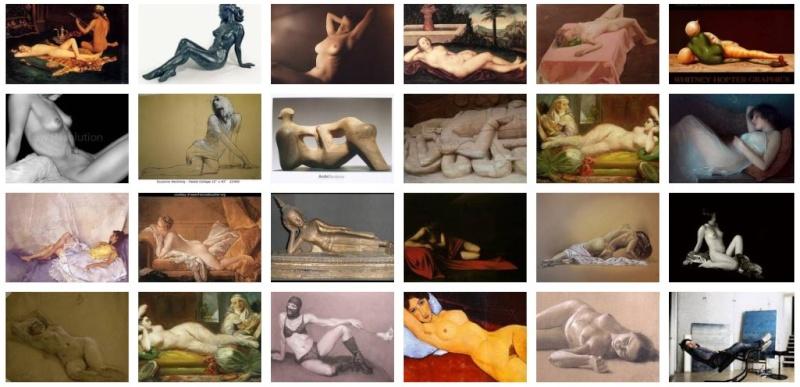 Recherche web sur les nus allongés Reclin10