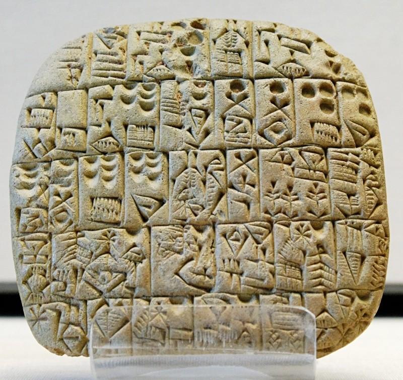 Esthétique des tablettes d'argile Tablet10