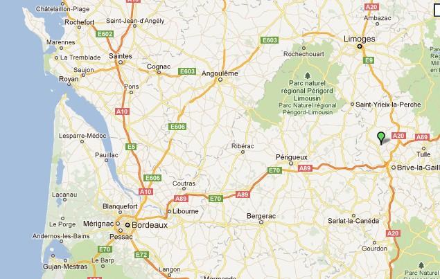 Voutezac (Corrèze) visitée sur le Web Voutez14