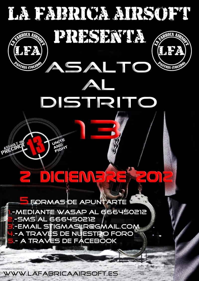 "partida abierta 2 de Diciembre 2012 Asalto al distrito 13 ""LA FABRICA AIRSOFT ZONE"" Asalto12"
