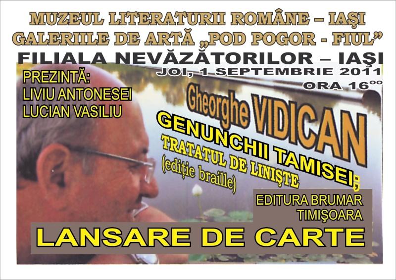 """Lansarea volumului de poezie """"Genunchii Tamisei"""" -Gheorghe VIDICAN 32268610"""
