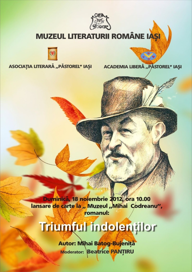 """Lansare de carte """"Triumful Indolenţilor""""- Mihai Batog Bujeniţă-18 nov 2012 Afis_a10"""