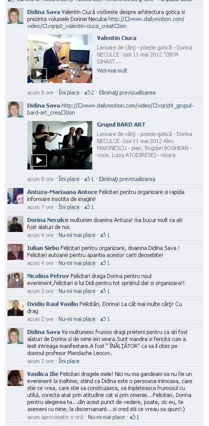 Lansare de cărţi - poezie gotică - Dorina NECULCE-11 mai 2012 Clip_195