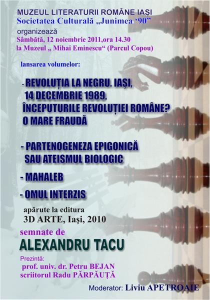Lansarea volumelor semnate de Alexandru TACU- 12 noiembrie 2011  Clip_254