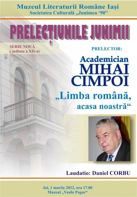 Prelecţiunile Junimii şedinţa a XII-a-academician Mihai CIMPOI Clip_358