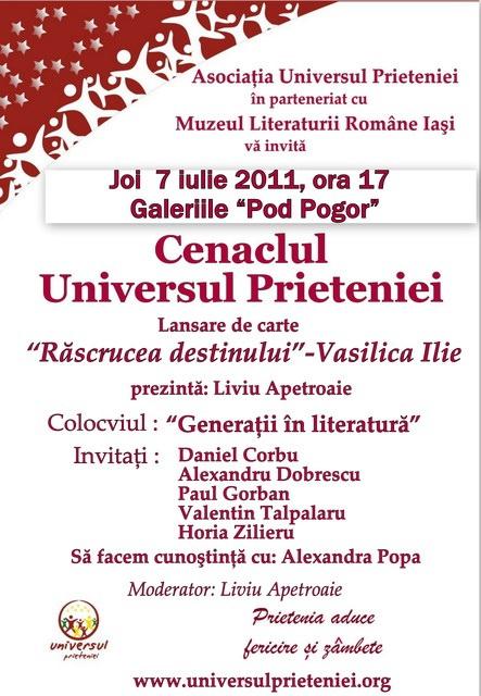 """07 iulie 2011-Sedinta a XV-a A Cenaclului U.P.-Lansare de carte-""""Răscrucea Destinului""""-Vasilica Ilie  Clip_411"""