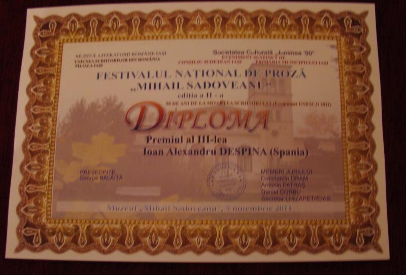 """FESTIVALUL CONCURS NAŢIONAL DE PROZĂ  """"MIHAIL SADOVEANU""""EDIŢIA a II-a, IAŞI, 4-6 noiembrie 2011 Festiv95"""