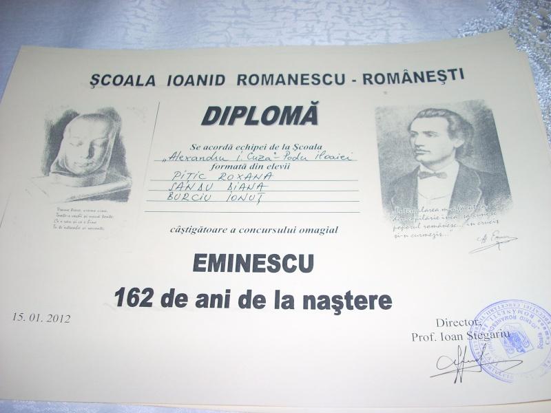 """Manifestări dedicate omagierii poetului Mihai Eminescu la şcoala """"Ioanid Romanescu"""" din Româneşti Romane14"""