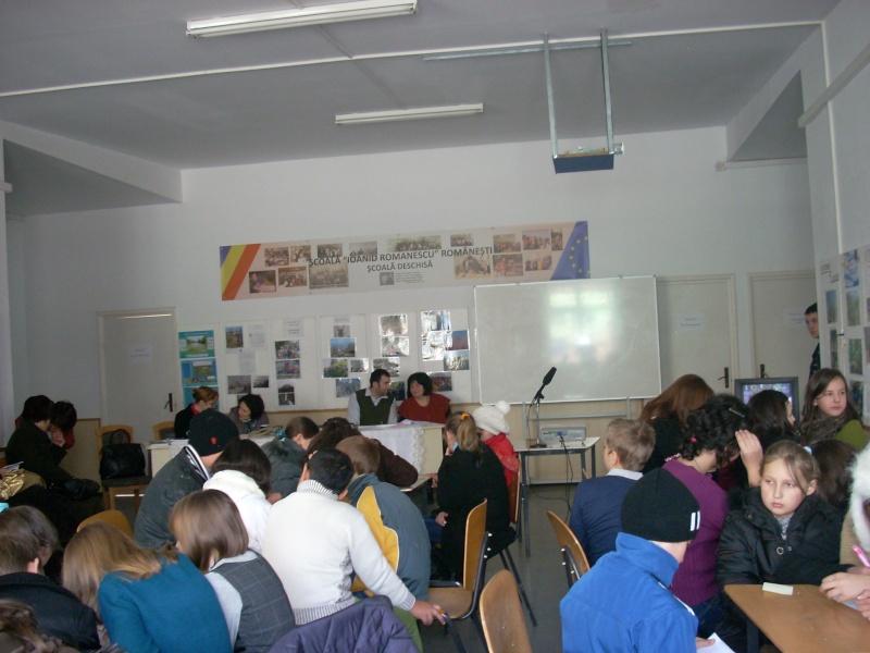 """Manifestări dedicate omagierii poetului Mihai Eminescu la şcoala """"Ioanid Romanescu"""" din Româneşti Romane42"""
