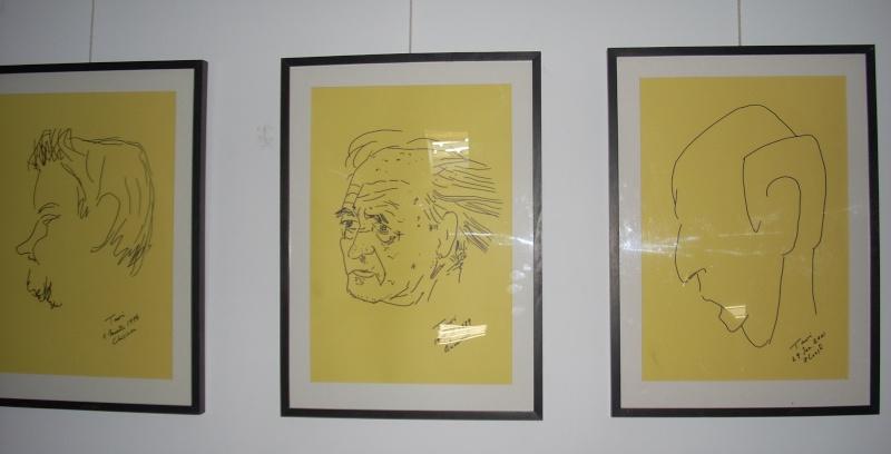 """Vernisaj expozitie """"Scriitori moldoveni"""" – portrete în tuş de Octavian Onea.  Vernis30"""