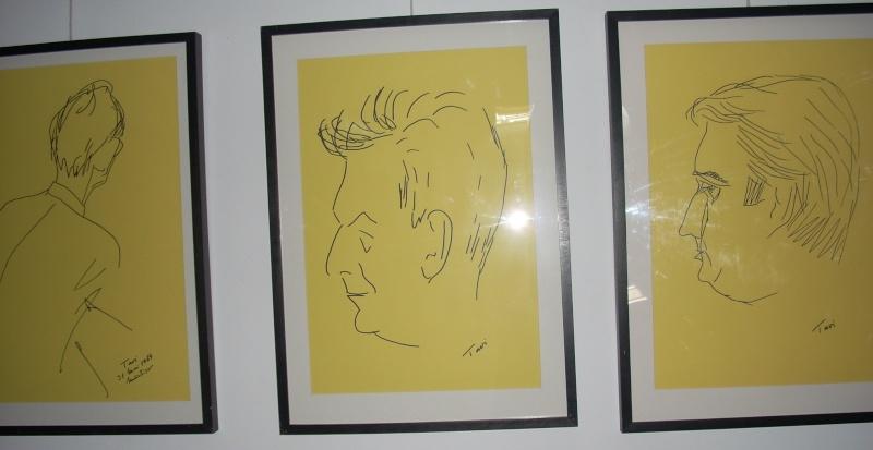 """Vernisaj expozitie """"Scriitori moldoveni"""" – portrete în tuş de Octavian Onea.  Vernis31"""