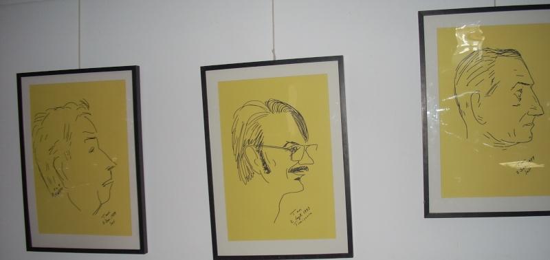 """Vernisaj expozitie """"Scriitori moldoveni"""" – portrete în tuş de Octavian Onea.  Vernis32"""