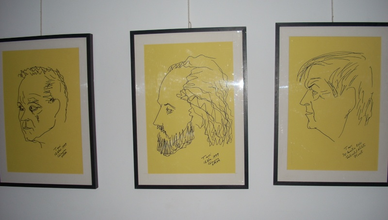 """Vernisaj expozitie """"Scriitori moldoveni"""" – portrete în tuş de Octavian Onea.  Vernis33"""