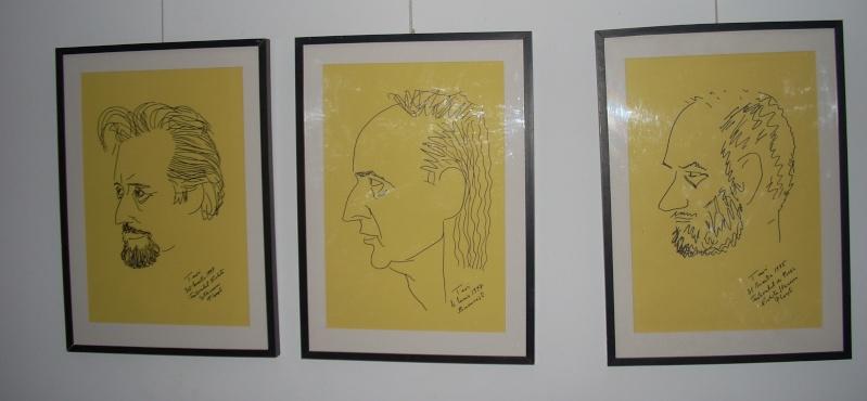 """Vernisaj expozitie """"Scriitori moldoveni"""" – portrete în tuş de Octavian Onea.  Vernis34"""