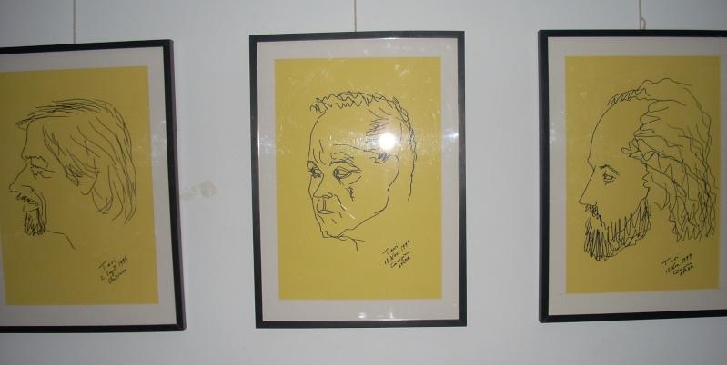 """Vernisaj expozitie """"Scriitori moldoveni"""" – portrete în tuş de Octavian Onea.  Vernis35"""