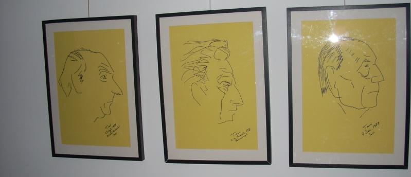 """Vernisaj expozitie """"Scriitori moldoveni"""" – portrete în tuş de Octavian Onea.  Vernis36"""