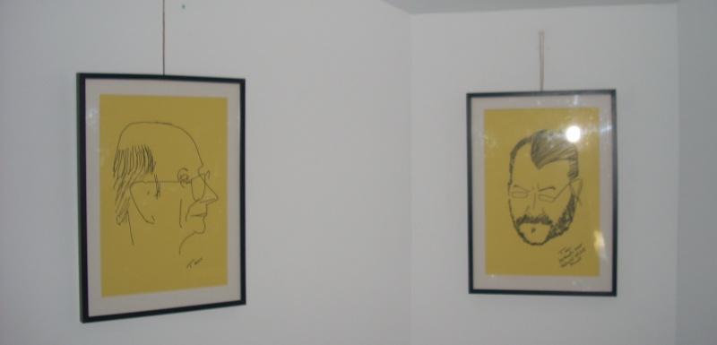 """Vernisaj expozitie """"Scriitori moldoveni"""" – portrete în tuş de Octavian Onea.  Vernis39"""