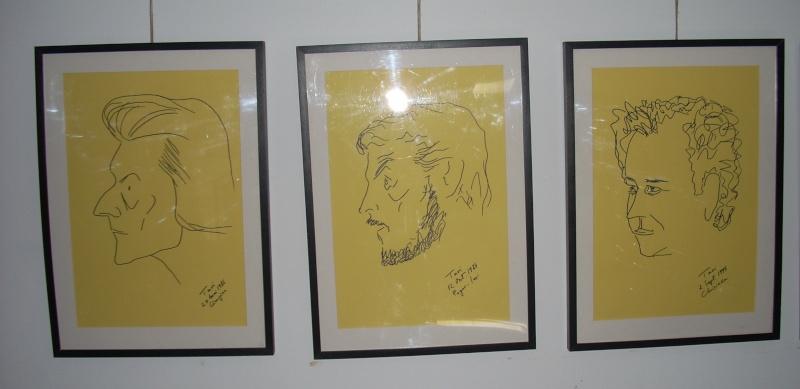 """Vernisaj expozitie """"Scriitori moldoveni"""" – portrete în tuş de Octavian Onea.  Vernis40"""