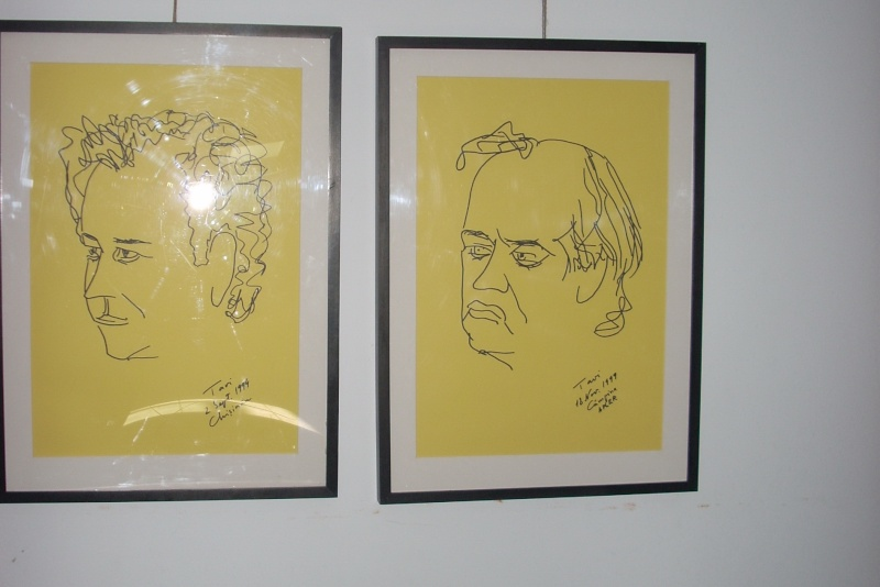 """Vernisaj expozitie """"Scriitori moldoveni"""" – portrete în tuş de Octavian Onea.  Vernis41"""