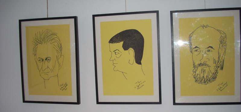 """Vernisaj expozitie """"Scriitori moldoveni"""" – portrete în tuş de Octavian Onea.  Vernis42"""