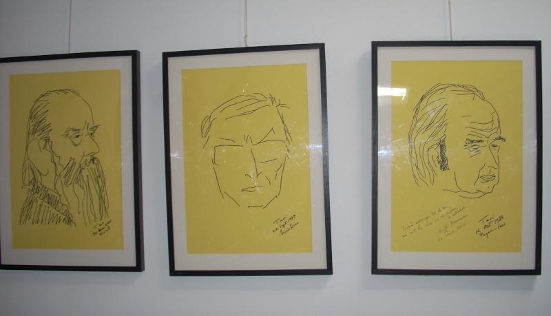 """Vernisaj expozitie """"Scriitori moldoveni"""" – portrete în tuş de Octavian Onea.  Vernis43"""