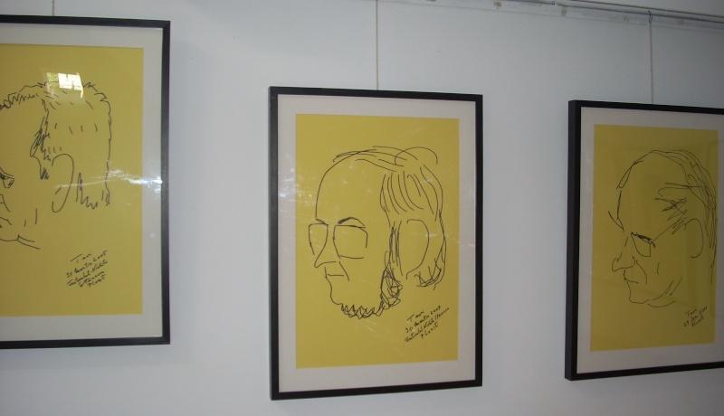 """Vernisaj expozitie """"Scriitori moldoveni"""" – portrete în tuş de Octavian Onea.  Vernis44"""