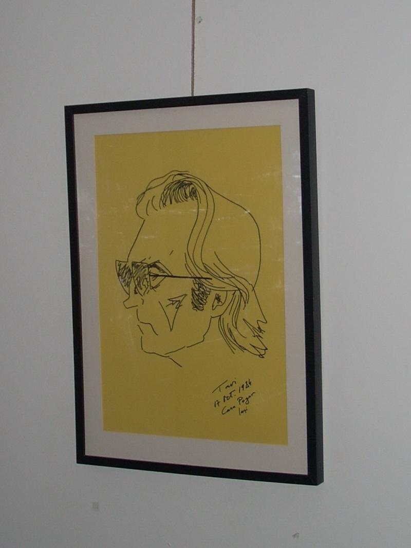 """Vernisaj expozitie """"Scriitori moldoveni"""" – portrete în tuş de Octavian Onea.  Vernis46"""