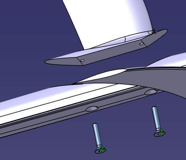 liaison démontable mat fuselage F910