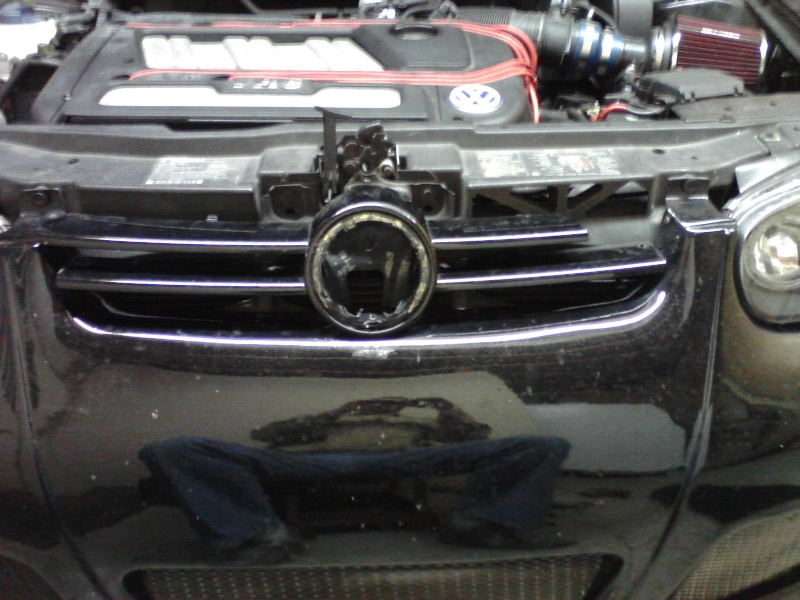 B5.5 Grill install on a MK4 w/EuroWise Front bumper - How to... 05111210