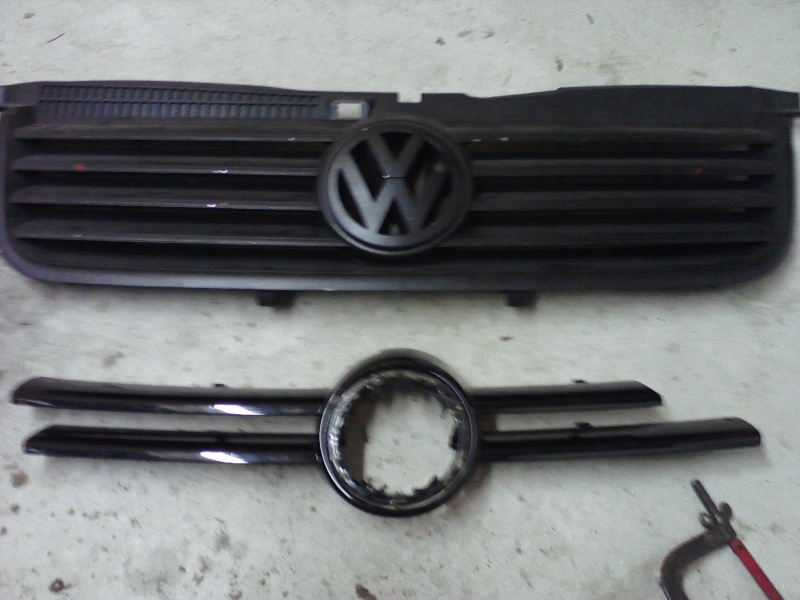 B5.5 Grill install on a MK4 w/EuroWise Front bumper - How to... 05111212