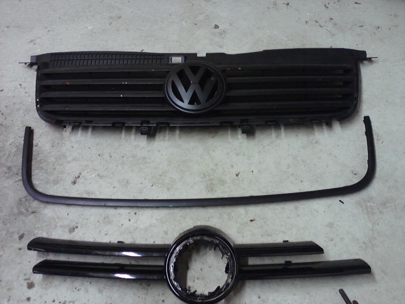 B5.5 Grill install on a MK4 w/EuroWise Front bumper - How to... 05111213