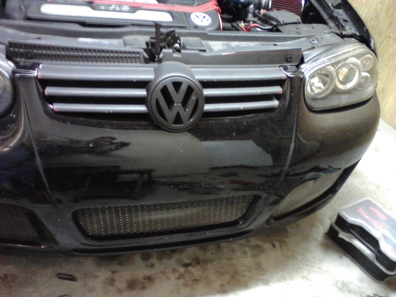 B5.5 Grill install on a MK4 w/EuroWise Front bumper - How to... 05111218