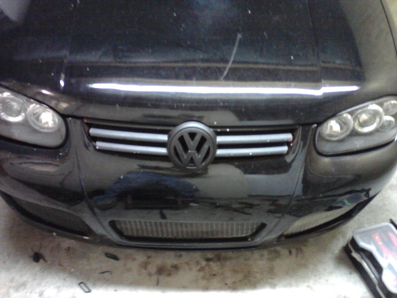 B5.5 Grill install on a MK4 w/EuroWise Front bumper - How to... 05111219