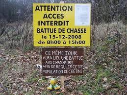 Attention, battue de chasse, ne veut pas dire, interdit aux anti-chasse ! 20733010