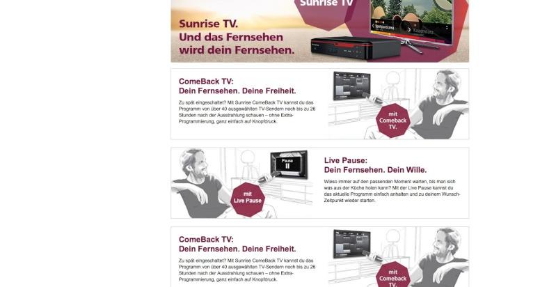 Sunrise TV prépare son arrivée sur le marché Sunris10