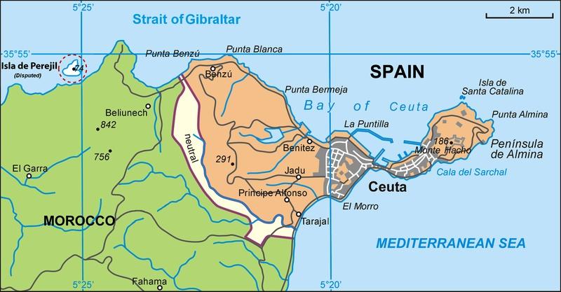 La crise de l'îlot Persil est un court conflit armé entre l'Espagne et le Maroc ( en juillet 2002 ) 800px-11