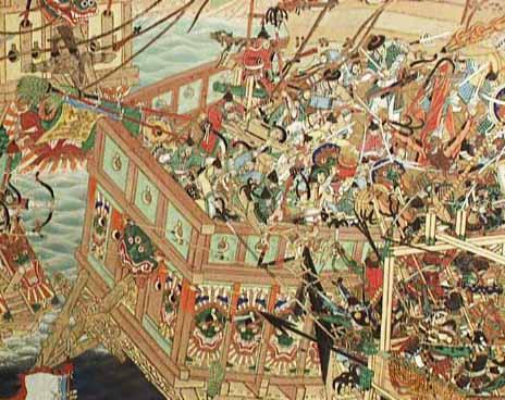 La bataille navale de No Ryang est la dernière bataille de la guerre Imjin, qui oppose la Corée de la dynastie Chosŏn et la Chine de la dynastie Ming à l'empire japonais de Hideyoshi Toyotomi de 1592 à 1598.bataille fondatrice de la corée . Navalz10