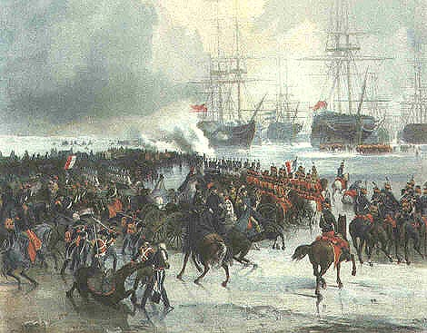 incroyable !  La capture de la flotte hollandaise au Helder par la cavalerie française en 1795 Texel_10