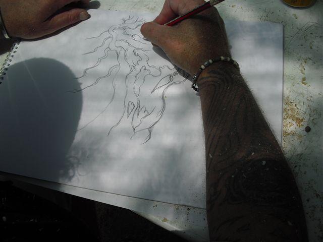 Kevin Willson Workshops at BCG's 21st Bonsai Annual Exhibition 2012 Cimg7815