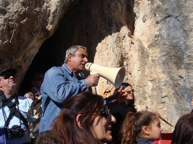 Κοπή πίτας Συλλόγου στο σπήλαιο Αγίας Αικατερίνης. Dsc07117