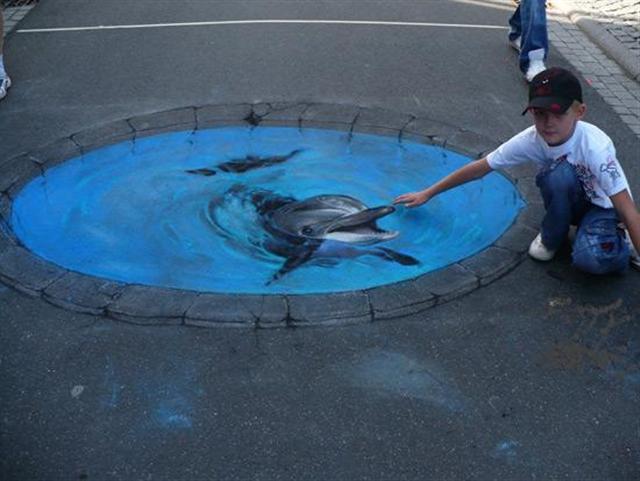 peintures de rue en 3D assez époustouflantes. Art-ru12
