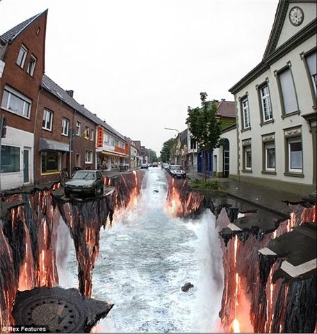 peintures de rue en 3D assez époustouflantes. Art_de11