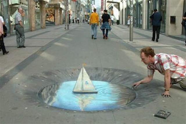 peintures de rue en 3D assez époustouflantes. Street10