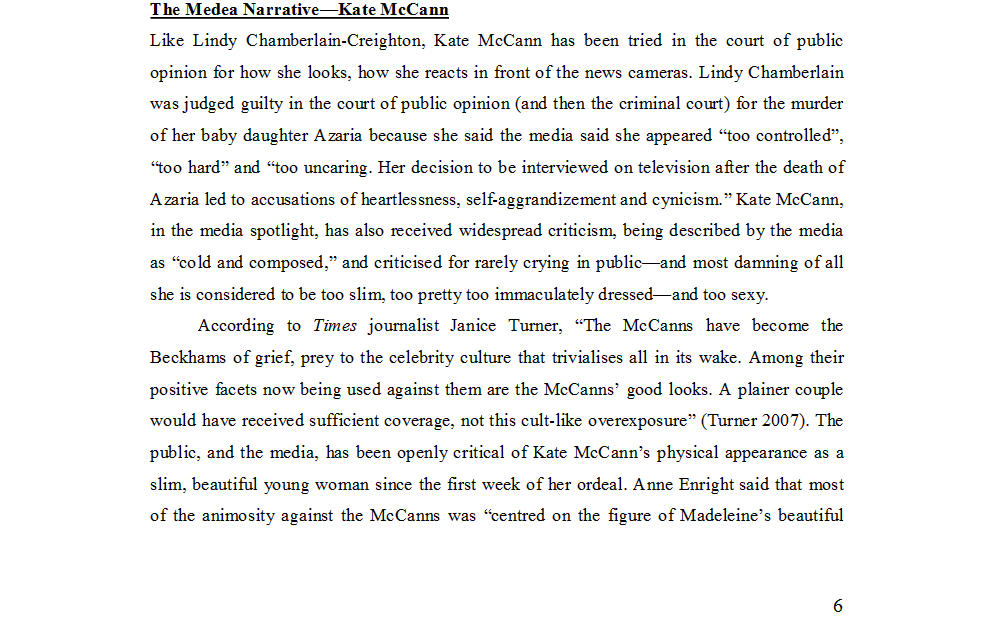 "Dr Nicola Goc: ""Bad Mummy""-  Kate McCann, Medea and the Media 1211"